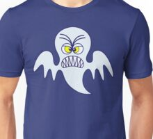 Scary Halloween Ghost Emoticon Unisex T-Shirt