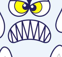 Scary Halloween Ghost Emoticon Sticker