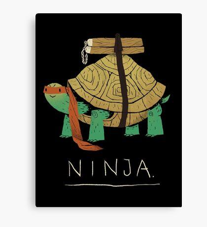 ninja - orange Canvas Print