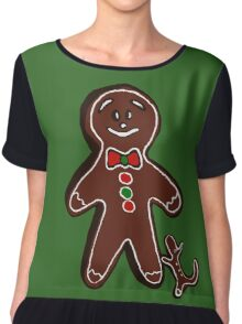 Gingerbread man Chiffon Top