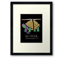 ninja - purple Framed Print