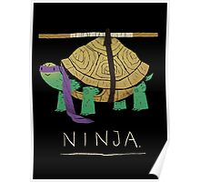 ninja - purple Poster