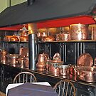 Copperware in the kitchen by Arie Koene