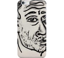 Self-portrait/(2 of 3) -(031014)- Digital artwork: Zen Brush iPhone Case/Skin