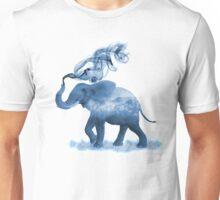 Blue Smoky Clouded Elephant Unisex T-Shirt