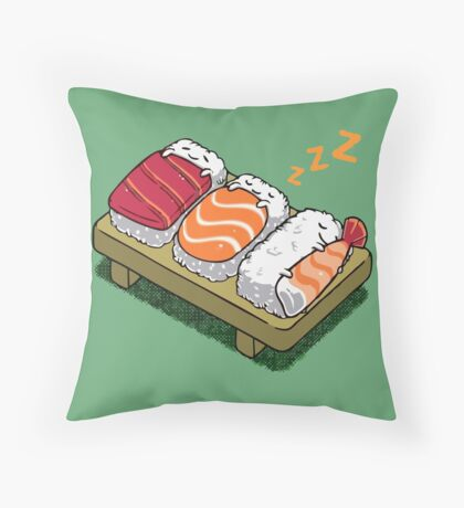 SUSHI Zzz Throw Pillow