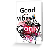 Good vibes collage  Greeting Card
