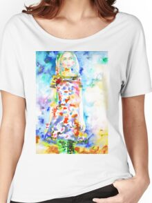 WATERCOLOR WOMAN.18 Women's Relaxed Fit T-Shirt