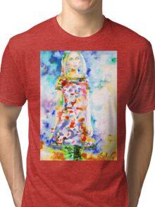 WATERCOLOR WOMAN.18 Tri-blend T-Shirt