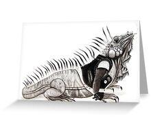 God Save the Iguana Greeting Card