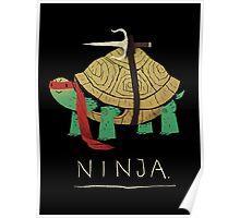 ninja - red Poster