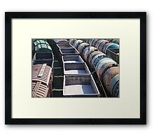 transportation of goods by rail Framed Print