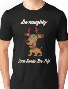 Funny Christmas Santa Dog Unisex T-Shirt