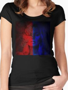 8. Fan Art: Harley Quinn Women's Fitted Scoop T-Shirt