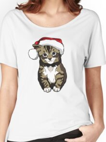MAXI Christmas Cat Women's Relaxed Fit T-Shirt