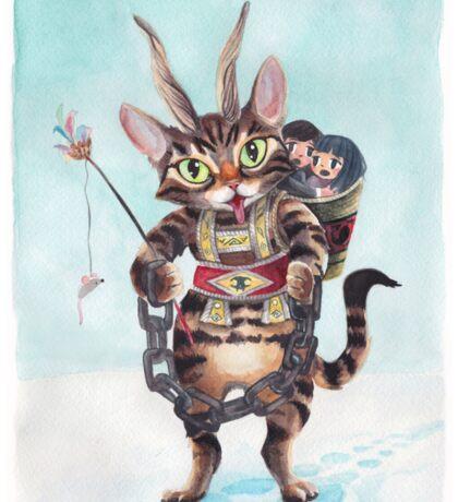 Krampus Kitty Sticker