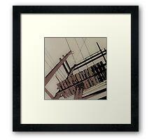 Grey City Framed Print