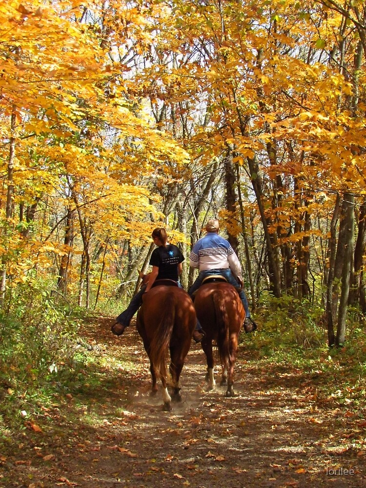 Autumn Horse Ride by lorilee