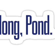 Come along, Pond. - Doctor Who Sticker