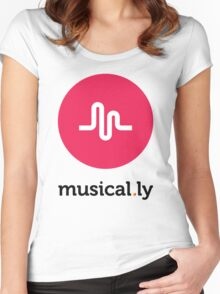 Musical.ly symbol Women's Fitted Scoop T-Shirt