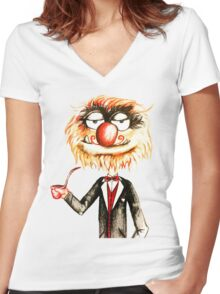 Suave Animal The Muppets  Women's Fitted V-Neck T-Shirt