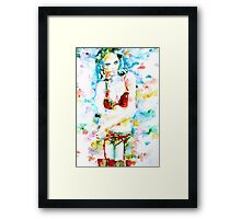 WATERCOLOR WOMAN.17 Framed Print