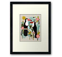 Toucans by Andrea Lauren  Framed Print