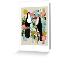 Toucans by Andrea Lauren  Greeting Card