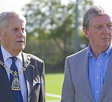 Mayor of Bromley & Roy Hodgson by Keith Larby