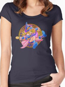 Toon Dark Magician Girl Women's Fitted Scoop T-Shirt