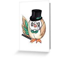Rowlet The Fabulous. Greeting Card
