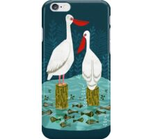 Pelicans by Andrea Lauren  iPhone Case/Skin