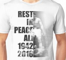 Rest in Peace Ali - 1942-2016 Memorial Print Unisex T-Shirt