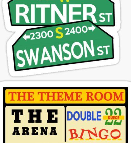 ECW Sticker Pack - Swanson Ritner St + Bingo Sign Sticker
