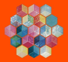 Crystal Bohemian Honeycomb Cubes - colorful hexagon pattern Kids Clothes
