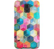 Crystal Bohemian Honeycomb Cubes - colorful hexagon pattern Samsung Galaxy Case/Skin