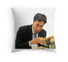 Ed Miliband Throw Pillow