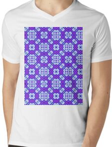 Violet energy flux design Mens V-Neck T-Shirt