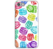 Colorful Macaroons - Watercolor Macaroon Dessert Cookie Rainbow iPhone Case/Skin