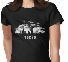Tokyo Japan Skyline Cityscape Night Womens Fitted T-Shirt