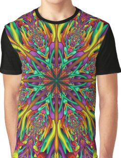 Crazy colors 3D mandala Graphic T-Shirt