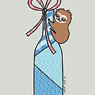Sloth with Bottle Shaped Gift by zoel