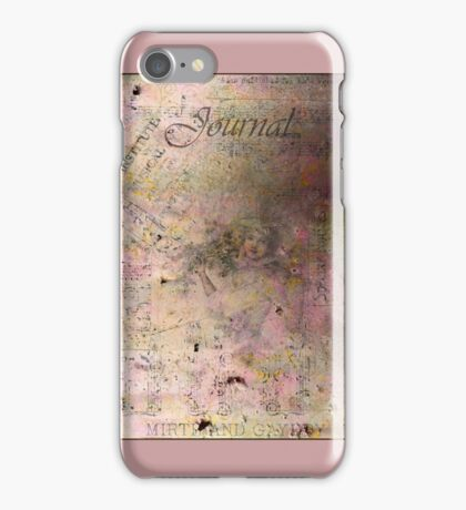 Lady In Lavender Journal Cover With Sheet Music Scraps iPhone Case/Skin