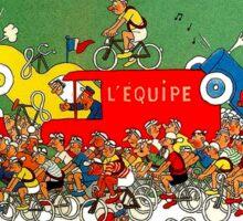 TOUR DE FRANCE; Comic Spoof Print Sticker
