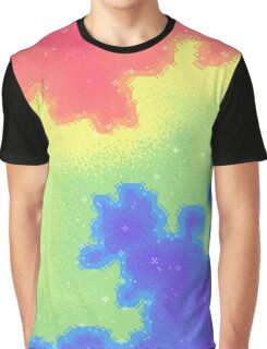 Rainbow Pride Flag Galaxy Graphic T-Shirt