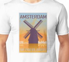 Amsterdam vintage poster Unisex T-Shirt
