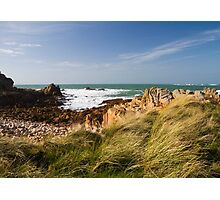 Coastal scene on guernsey Photographic Print