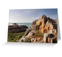Coastal scene on guernsey Greeting Card