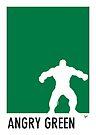 My Superhero 01 Angry Green Minimal poster by Chungkong