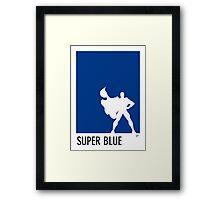 My Superhero 03 Super Blue Minimal poster Framed Print